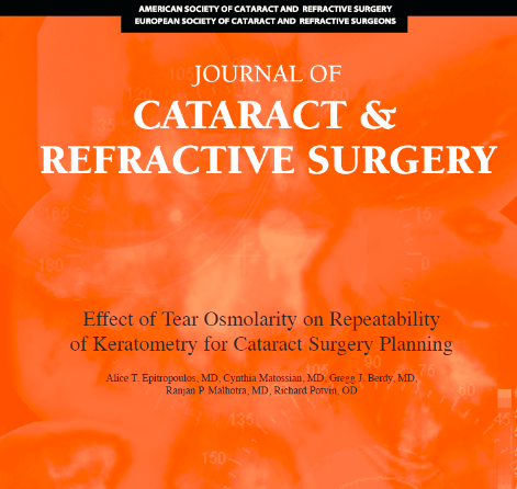 Effect of Tear Osmolarity on Repeatability of Keratometry for Cataract Surgery Planning